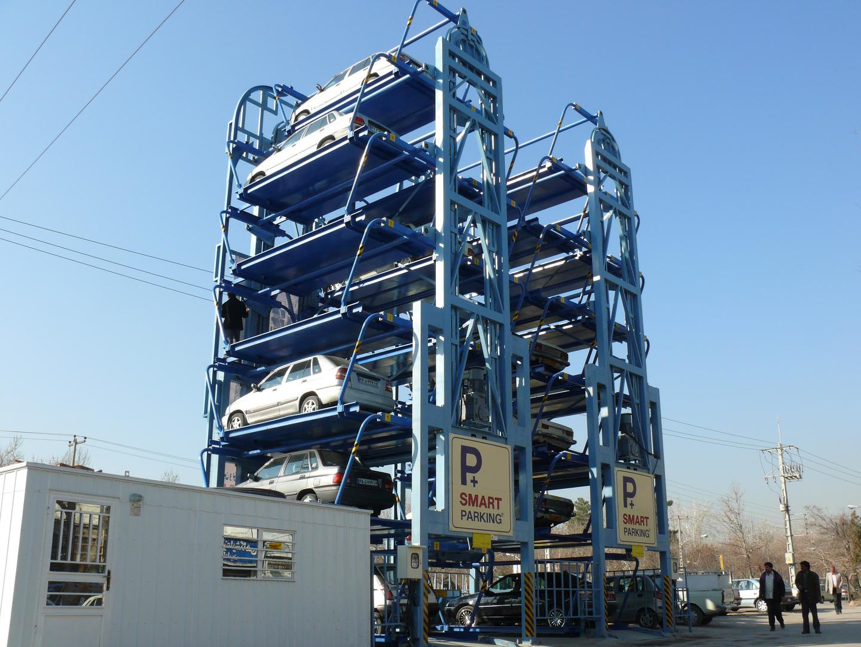 مقاطع HSS در ساخت پارکینگ های هوشمند و مکانیزه پارکینگ دانشگاه علوم پزشکی شیراز
