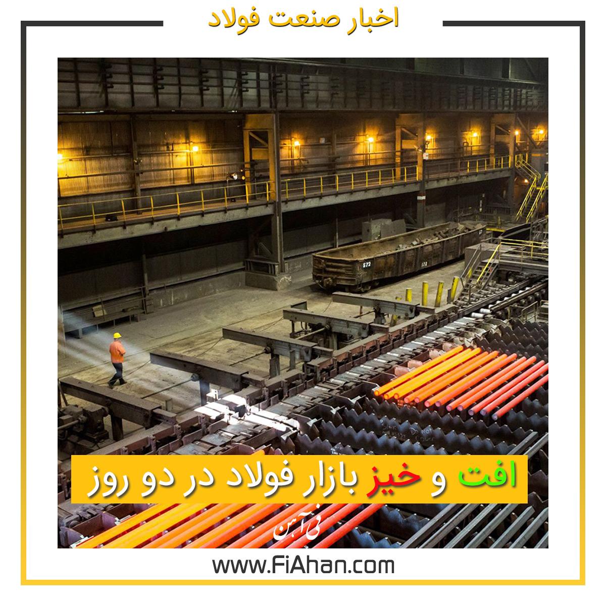 افت و خیز بازار فولاد در دو روز